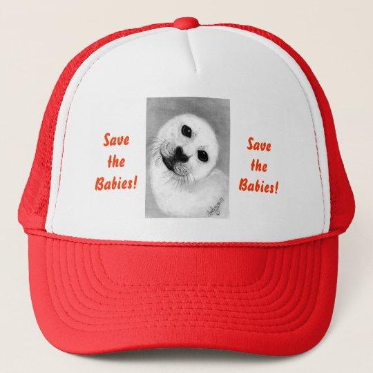 Unconditional Love Harp Seal Trucker Hat