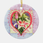 Unconditional Love Heart Double-Sided Ceramic Round Christmas Ornament