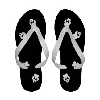 Unconditional Love Paw Print Flip Flops