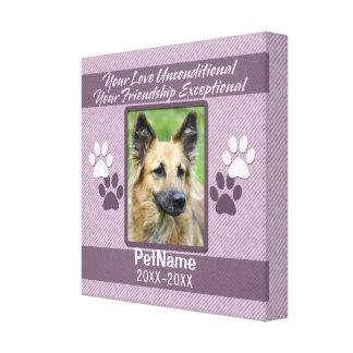 Unconditional Love Pet Sympathy Custom Gallery Wrap Canvas
