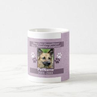Unconditional Love Pet Sympathy Custom Coffee Mug