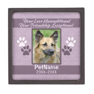 Unconditional Love Pet Sympathy Custom Keepsake Box
