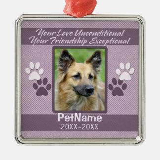 Unconditional Love Pet Sympathy Custom Metal Ornament