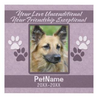 Unconditional Love Pet Sympathy Custom Panel Wall Art