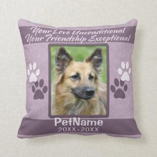 Unconditional Love Pet Sympathy Custom Throw Pillow
