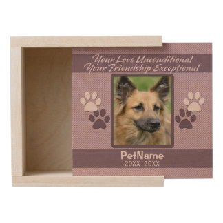 Unconditional Love Pet Sympathy Custom Wooden Keepsake Box