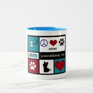 Unconditional Love Two-Tone Coffee Mug