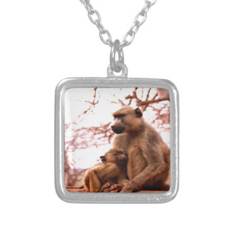 unconditional mother love monkey necklace