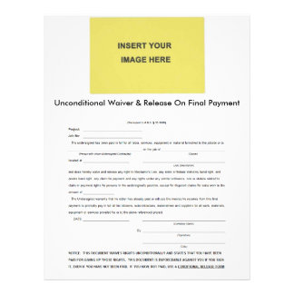 Unconditional Waiver & Release On Final Payment Letterhead