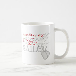 Unconditionally In Love With My Sailor Classic White Coffee Mug