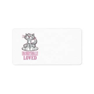 Unconditionally Loved Cat Label