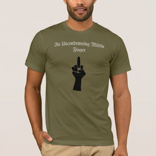 Uncondmening Middle Finger T with Adorno Quote T-Shirt