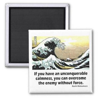 Unconquerable Calmness 2 Inch Square Magnet