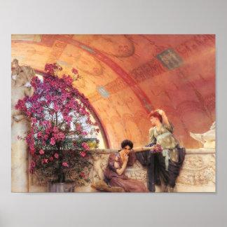 Unconscious Rivals , Lawrence Alma-Tadema, 1893 Poster