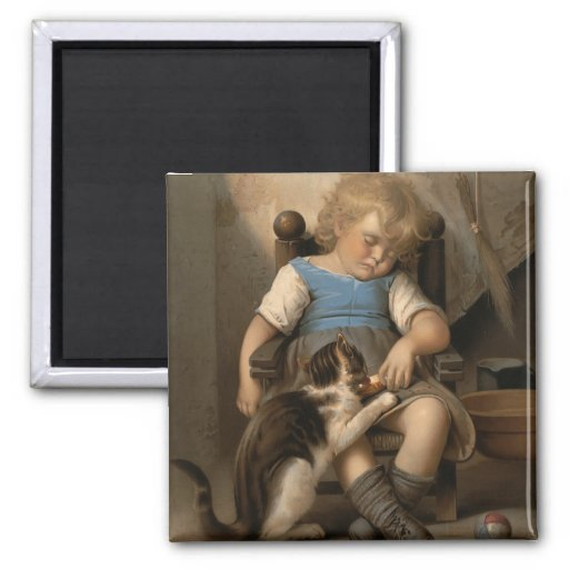 Unconscious Sleeper 2 Inch Square Magnet