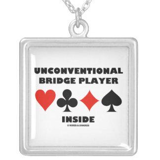 Unconventional Bridge Player Inside (Card Suits) Custom Jewelry