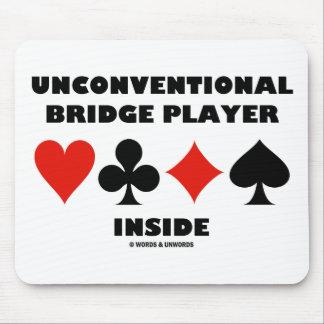 Unconventional Bridge Player Inside Mouse Pad