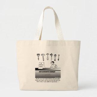 Unconventional Locksmith Wisdom Canvas Bags
