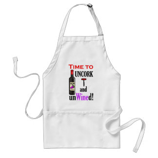 Uncork and Unwined Adult Apron