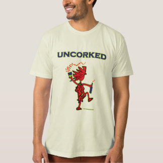 UNCORKED - alcohol de la celebración Playera