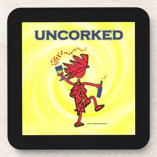 UNCORKED - alcohol de la celebración Posavaso