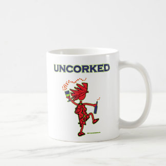 UNCORKED - alcohol de la celebración Tazas De Café