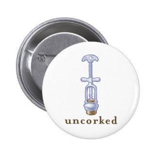Uncorked Pinback Button