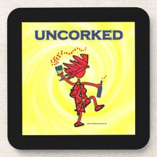 UNCORKED - Celebration Spirit Beverage Coaster