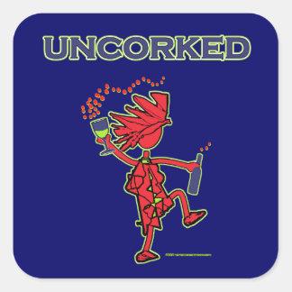 UNCORKED - Celebration Spirit Square Sticker