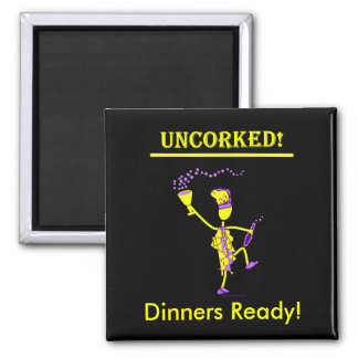 Uncorked! Gifts & Tees 2 Inch Square Magnet