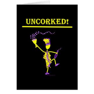 ¡Uncorked! Regalos y camisetas Tarjeta De Felicitación
