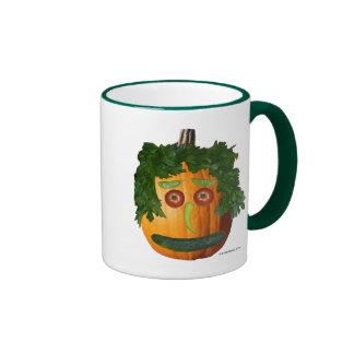 Uncut Pumpkin Face Ringer Mug