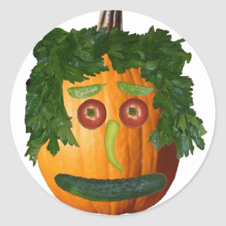 Uncut Pumpkin Face Sticker