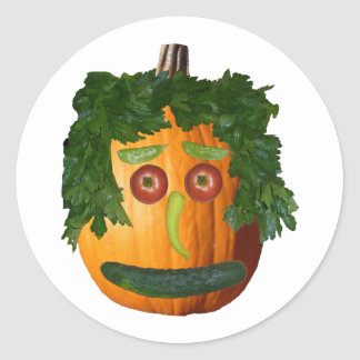 Uncut Pumpkin Face Sticker
