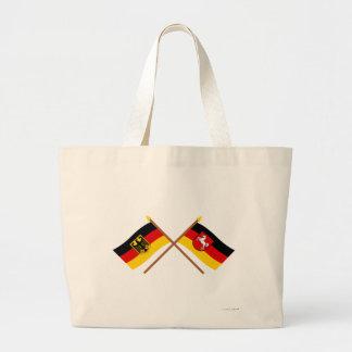 Und Baja Sajonia Flaggen, gekreuzt de Deutschland Bolsa Tela Grande