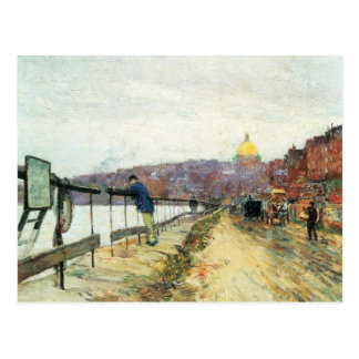 Und Beacon Hill de Childe Hassam - del río Charles Postales