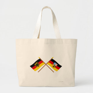 Und el Sarre Flaggen, gekreuzt de Deutschland Bolsa Tela Grande