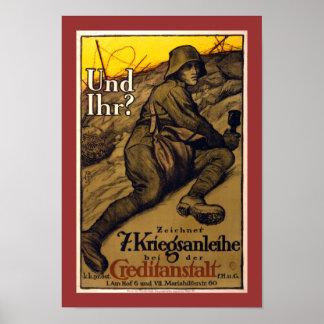 Und Ihr? - 7th War Loan (border) Poster