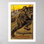 Und Ihr? - 7th War Loan (white) Poster