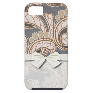 Und Laubentwurf de Blumen- del nouveau de Kunst iPhone 5 Carcasa