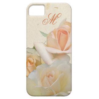 Und Monogramm de Romantische Rosen iPhone 5 Carcasas