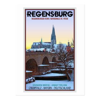Und Steinerne Brücke de Regensburg - Dom Postales