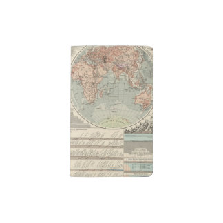 Und Tiefen - mapa de Hohen del atlas de los cielos Funda Para Libreta Y Libreta Pequeña Moleskine