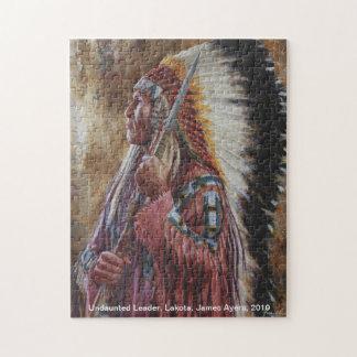 Undaunted Leader, American Indian Lakota puzzle