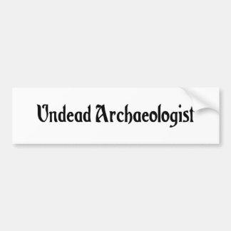 Undead Archaeologist Sticker Car Bumper Sticker