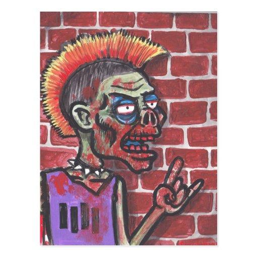 Undead Black Flag Fan Postcard