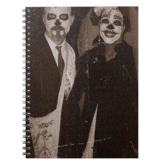 Undead Couple.jpg Spiral Notebook