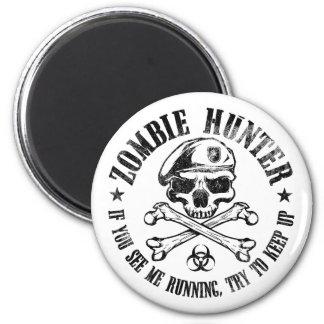 undead del cazador del zombi que viven absolutamen imán redondo 5 cm