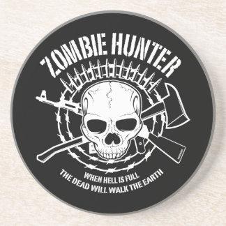 undead del cazador del zombi que viven absolutamen posavasos personalizados