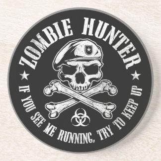 undead del cazador del zombi que viven absolutamen posavasos diseño